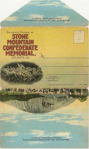 Stone Mountain Confederate Memorial - Atlanta Georgia - 1927 Curt Teich Souvenir Postcard Folder
