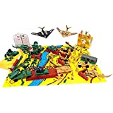150+ Army Military Play Set Soldiers Missiles Tanks Blockade Walls!