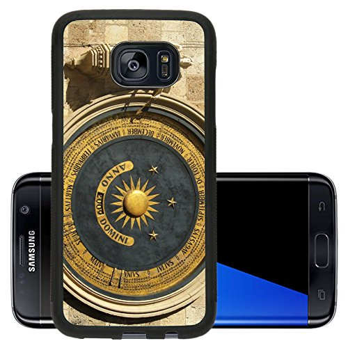 Liili Premium Samsung Galaxy S7 Edge Aluminum Backplate Bumper Snap Case Ancient perpetual calendar on the wall of a bell tower in Messina Sicily Photo (This Month In History)