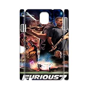 Furious 7 YT0014236 3D Art Print Design Phone Back Case Customized Hard Shell Protection Samsung galaxy note 3 N9000