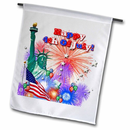"3dRose fl_56859_2 ""independence Day"" Garden Flag, 18 x 27"""