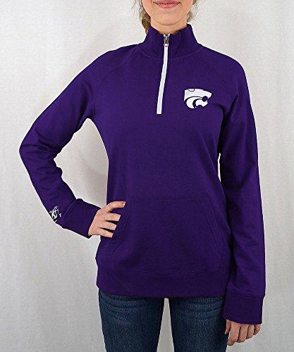 (Elite Fan Shop Kansas State Wildcats Women's Quarter Zip Captain Purple - M)