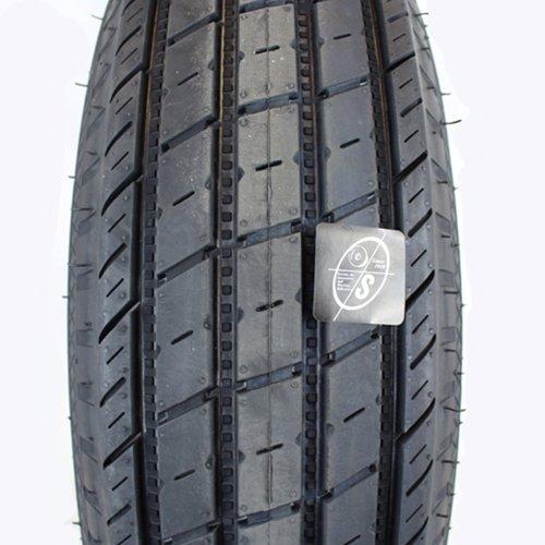 15'' x 5'' Silver Modular Trailer Wheel With Bias Allstar XL ST20575D15C Tire Mounted (5-4.5'' Bolt Circle)