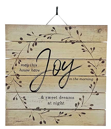 Imprints Plus May This House Have Joy Inspirational Distressed Wood Sign, 12