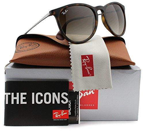 Ray-Ban RB4171 Erika Sunglasses Matte Havana w/Brown Gradient (865/13) 4171 86513 54mm - Ray Sunglasses Ban Erika Havana