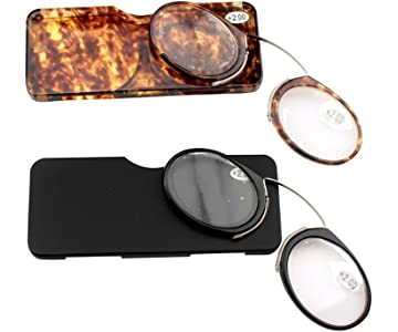 dd7ac20e097a SOOLALA Go Everywhere SOS Pince Nez Style Nose Resting Pinching Reading  Glasses