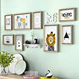 Home@Wall photo frame Photo Gallery Frame Set Of Wall With Usable Artwork And Family, Set Of 8 ( Color : C )