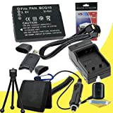 Battery Kit for Panasonic Lumix DMC-ZS10, DMC-ZS1, DMC-ZS3, DMC-ZS5, DMC-ZS6, DMC-ZS7 Includes DMW-BCG10 Replacement Lithium Ion Battery w/Charger + HDMI Cable + Memory Card Reader/Wallet + Deluxe Starter Kit DavisMAX Accessory Bundle