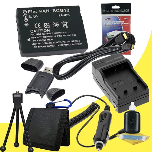 Battery Kit for Panasonic Lumix DMC-ZS10, DMC-ZS1, DMC-ZS3, DMC-ZS5, DMC-ZS6, DMC-ZS7 Includes DMW-BCG10 Replacement Lithium Ion Battery w/Charger + HDMI Cable + Memory Card Reader/Wallet + Deluxe Starter Kit DavisMAX Accessory Bundle by DavisMAX