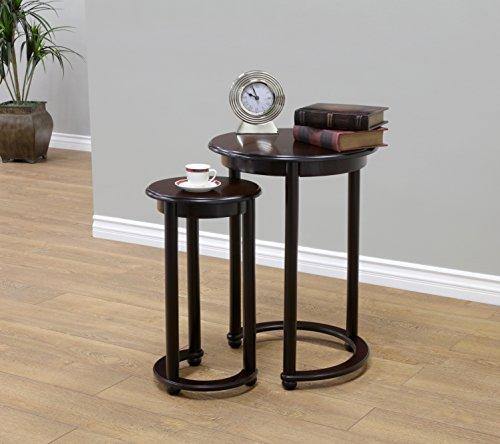 (Frenchi Home Furnishing Round Nesting Table, 2-Piece)