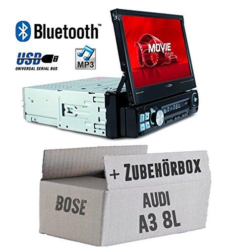 Audi A3 8L Bose - Autoradio Radio Caliber RMD574BT - Bluetooth | MP3 | USB | SD | 7' TFT - Einbauzubehö r - Einbauset JUST SOUND best choice for caraudio AuA38LB_RMD574BT