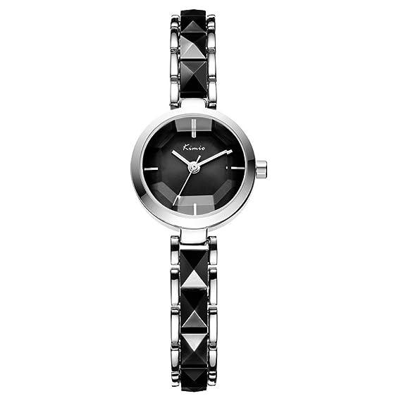Kimio marca Ladies imitación de cerámica dorado Casual relojes Montre Femme Mujer relojes de pulsera.: Amazon.es: Relojes
