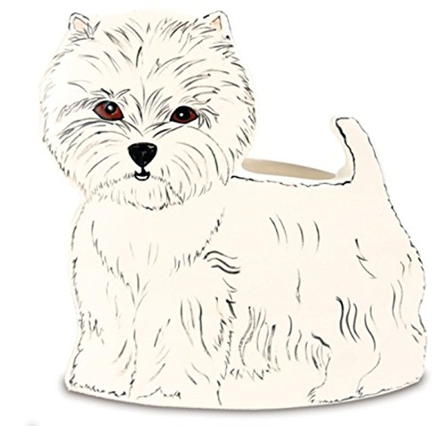 Rescue Me Now Pavilion Gift, West Highland Terrier Planter Vase, 9-Inches - Terrier Highland Magnet West