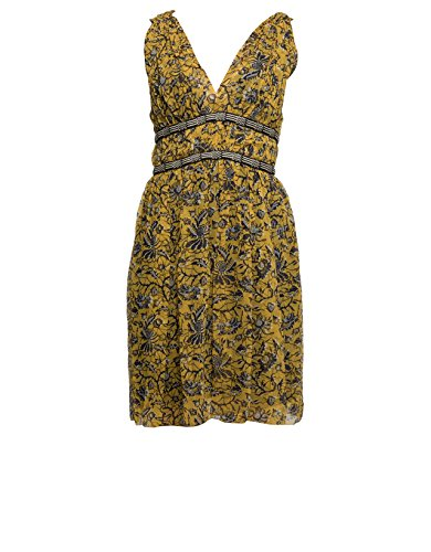 isabel-marant-womens-r0087817p023e10yw-yellow-silk-dress