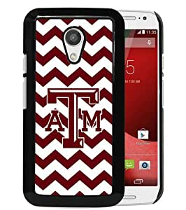Popular Custom Designed Case For Motorola Moto G 2nd Generation With Southeastern Conference SEC Football Texas A&M Aggies 02 Black Phone Case