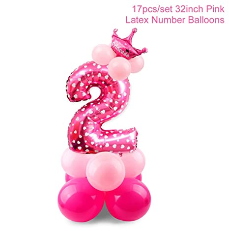 Amazon.com: 10 globos de 12 pulgadas y 2 cumpleaños para ...