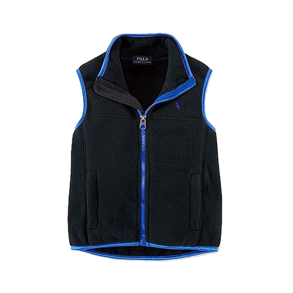 Polo Ralph Lauren Boy's Fleece Vest, Size 5, Black