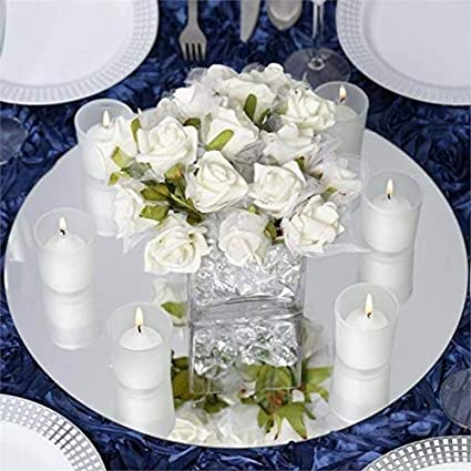 Amazoncom Efavormart 16 Round Glass Mirror Wedding Party Table