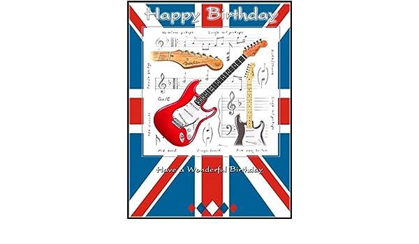 Little Snoring Regalos: 7 x 5 tarjeta de felicitación – Guitarra ...