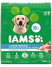IAMS Adult Large Breed Dry Dog Food - Chicken and Whole Grains Recipe, 13.61 (30LB) Bag