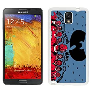 Easy Use Galaxy Note 3 Case Design with Wu-tang Clan White Case for Samsung Galaxy Note 3 III N900 N9005