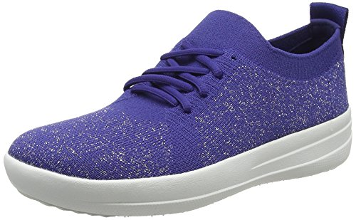 Fitflop Trainers Blue Sneakers Sporty Metallic Uberknit Blue 613 F Women's Indian Metallic Hnq1wxrHa
