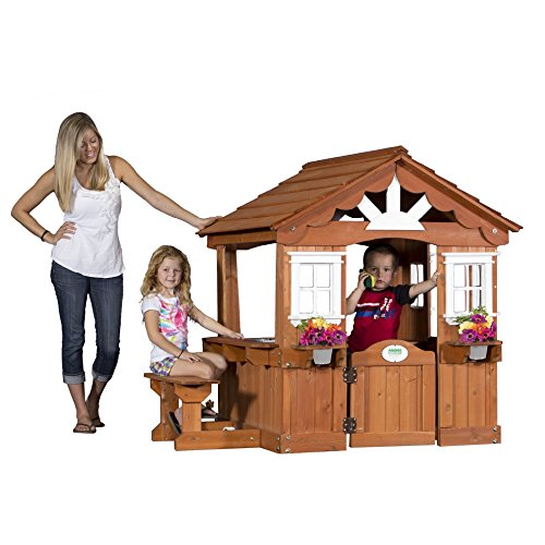 Backyard Discovery Scenic All Cedar Outdoor Wooden Playhouse ()