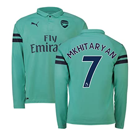 07c8560bd39 Image Unavailable. Image not available for. Color  2018-2019 Arsenal Puma  Third Long Sleeve Football ...