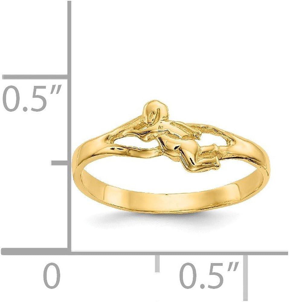 14K Angel Baby Ring