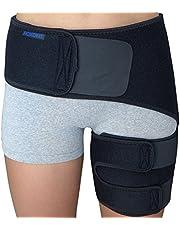 Hip Flexor Brace - Groin Compression Wrap for Thigh Hamstring Pull Hip Arthritis Bursitis Labral Tear Sciatica Pain Relief - Support Brace - Sciatic Nerve Si Joint Injury Belt Spica Men Women