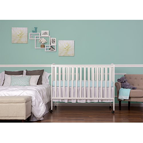 Dream On Me Full Size 2 in 1 Folding Stationary Side Crib, White by Dream On Me (Image #4)