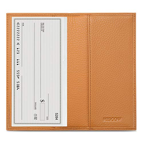 Checkbook Cute Covers - HISCOW Minimalist Checkbook Cover - Full Grain Leather (Pebbled Whiskey)
