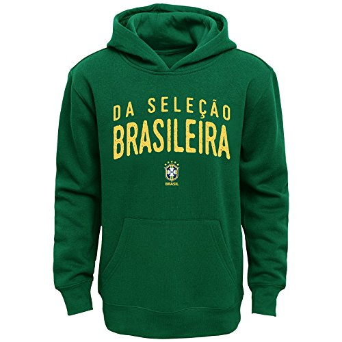 World Cup Soccer Brazil Youth Boys 8-20 Arch Original Fleece Hoodie, Medium (10-12), Kelly Green ()