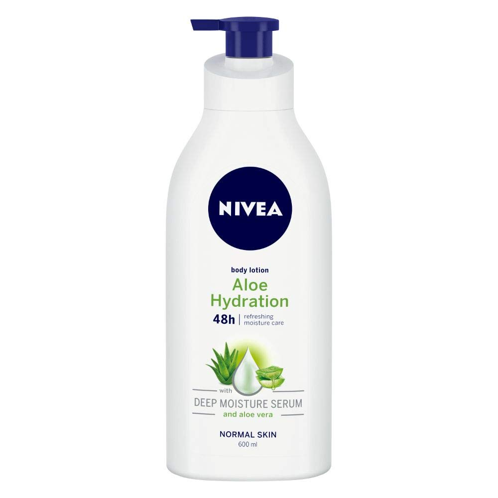 NIVEA Body Lotion, Aloe Hydration, For Normal Skin, 600ml