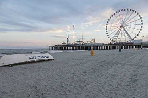 Photograph| The Steel Pier on the boardwalk in Atlantic City, New Jersey 1 Fine Art Photo Reproduction 24in x 16in