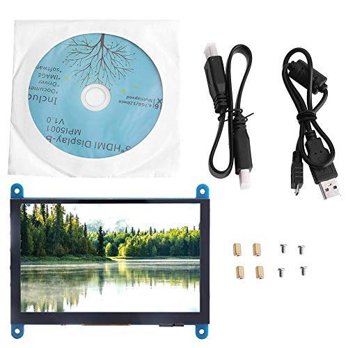 Touch Capacitance Screen - 5-Inch HDMI Display 800x480 TFT LCD HD Capacitance Display with Touch Screen Monitor Compatible Raspberry Pi(USB Drive Free)