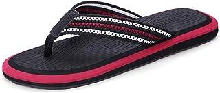 CS Schwarz Flip Flops Sommer Indoor Rutschfeste Hausschuhe Outdoor Coole Schuhe Herren Strand Hausschuhe (Color : Black and red, Size : 46)