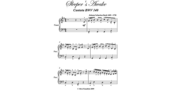 Sleepers Awake Bach Easy Piano Sheet Music - Kindle edition