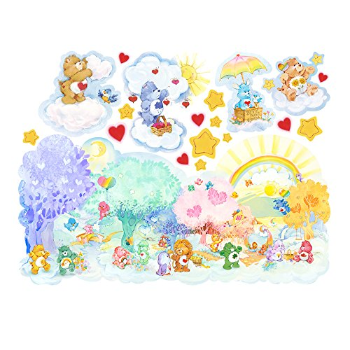 Care Bears Forest of Feelings Large Wall Decals (Care Bears Nursery Decor)