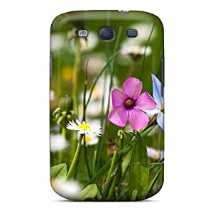 For Galaxy Case, High Quality Nature Flowers Flowers Field For Galaxy S3 Cover Cases