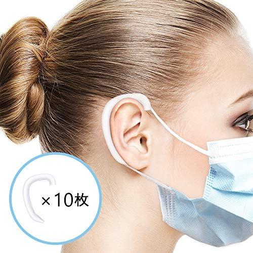 SUNCOON シリコンイヤーフック フック 耳が痛くない 補助道具 イヤーフックアジャスター 再利用可能 大人 子供用(10枚, 透明) (10枚)