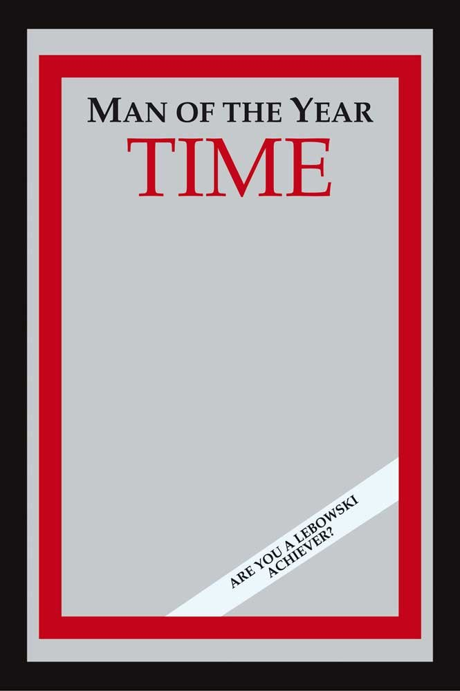 The Big Lebowski - Time: Man Of The Year Bar Mirror (Size: 9'' x 12'')