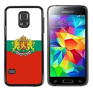 LECELL--Funda protectora / Cubierta / Piel For Samsung Galaxy S5 Mini, SM-G800 -- Cresta de la bandera MAJESTIC --
