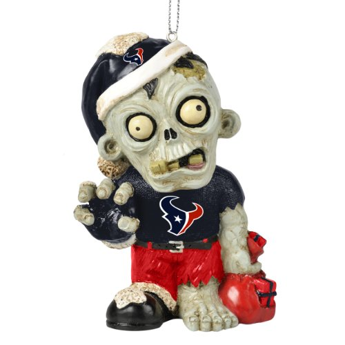 Houston Texans NFL Zombie Christmas Ornament