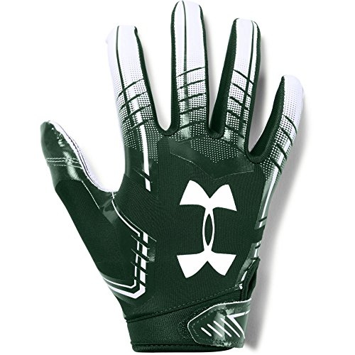 Under Armour Boys' F6 Youth Football Gloves, Forest Green (301)/White, Youth Medium