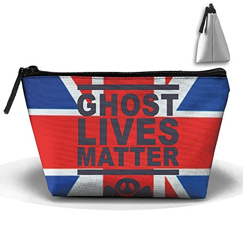 Ghost Lives Matter Convenient Trapezoid Makeup Storage Bag For Toiletry And Skincare