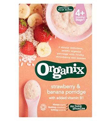 Organix Strawberry & Banana Porridge 120G - Pack of 2 by Organix