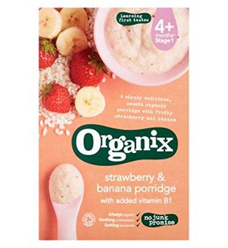 Organix Strawberry & Banana Porridge 120G - Pack of 2 by Organix