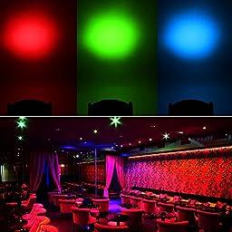Smartrade 4 In 1 RGBW 7x10W LED Stage Par Lighting Used as Stage light, Bar Light, KTV Light, Flicker Light, Halloween, Christmas, Decoration