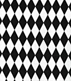 Valance Black and White Diamonds Harlequin Pattern Custom Made For Sale